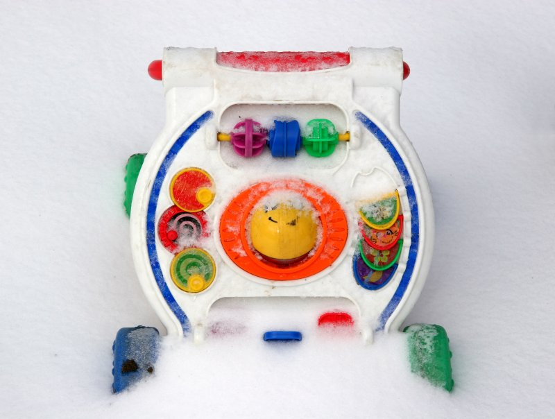 Sandpile Toy Buried in Snow
