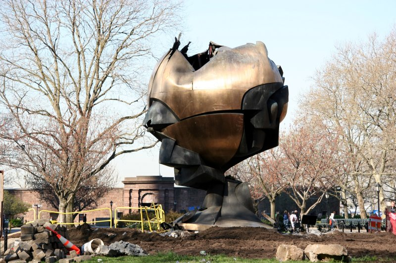 Center Piece of the Remains of the Former World Trade Center Plaza Sculpture