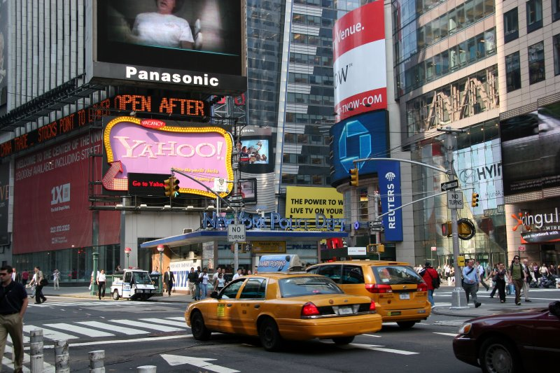 Times Square - Downtown View of Broadway & 7th Avenue