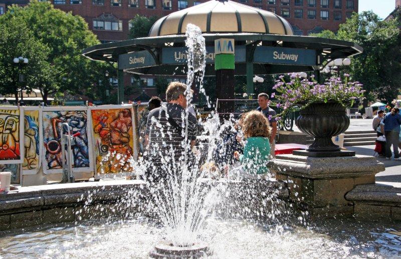 Fountain & Subway Kiosk