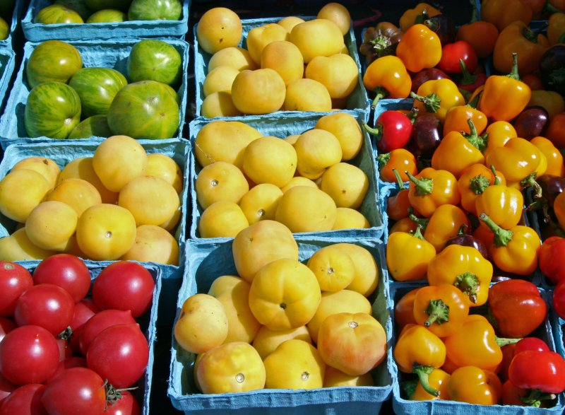 Farmers Market - Tomatoes & Peppers