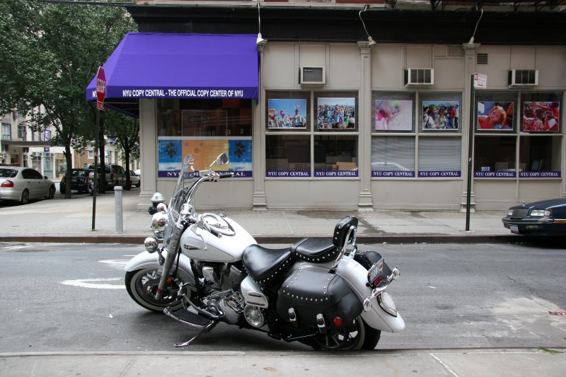 Motorcycle at NYU Copy Center