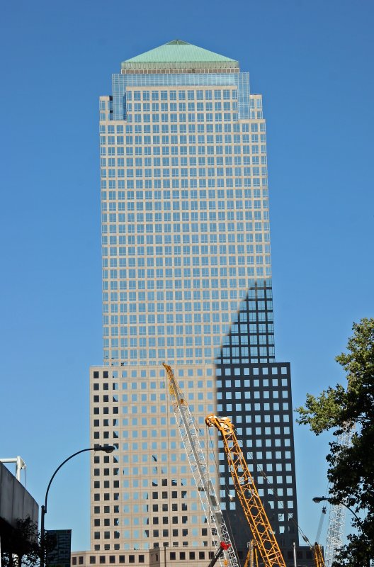 3 World Financial Center Building at Ground Zero from Broadway