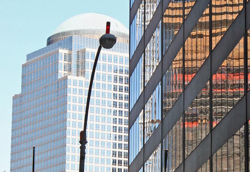 2 World Financial Center & Deutches Bank Demolition at Ground Zero Reflection