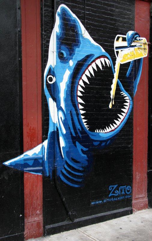 Bar Mural near Spring Street