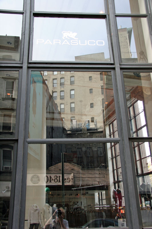 Parasuco Clothiers with Window Reflections at LaFayette Street