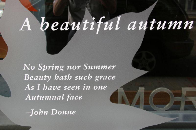 Window Message - John Donnes Autumn Tribute
