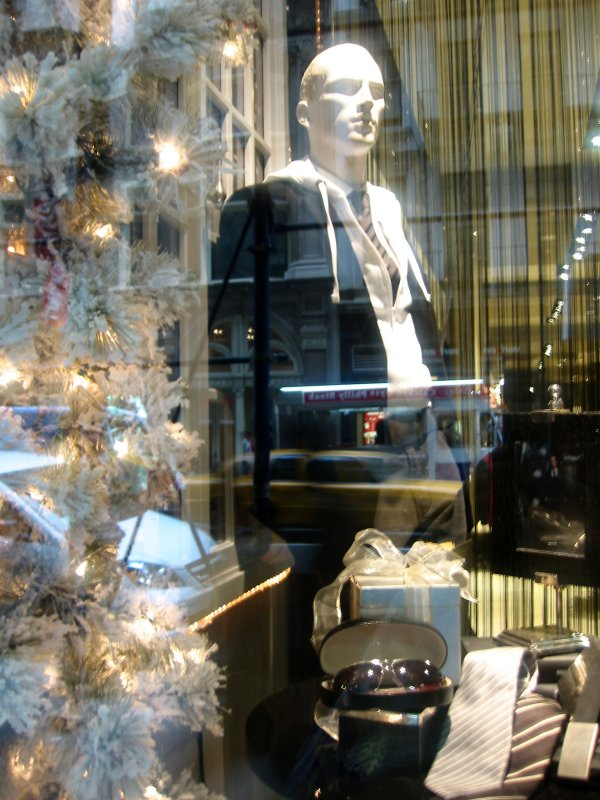 Mens Fashions Window - Broadway Street Reflections