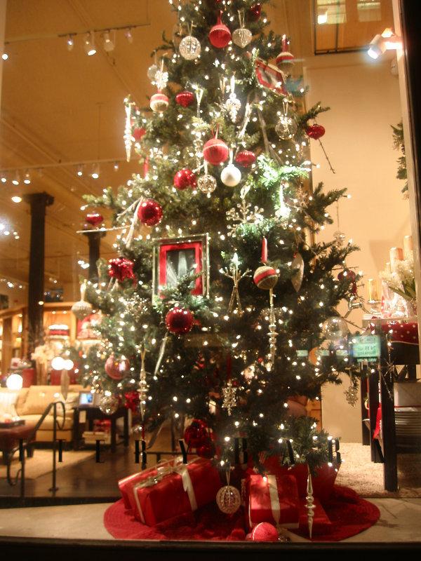 Pottery Barn Christmas Tree Window