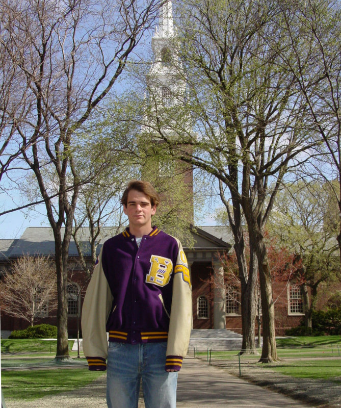 Marinas son Kevin at Harvard-April 2006