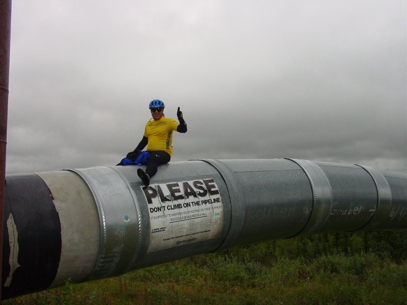Mike on the alaska pipeline
