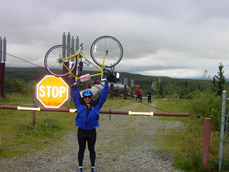 Mike at the alaska pipeline