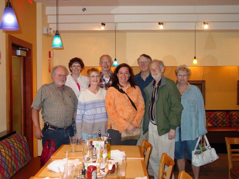 Tim, Marina,Nan, Steve, Karen, Chris,Duane, Joyce