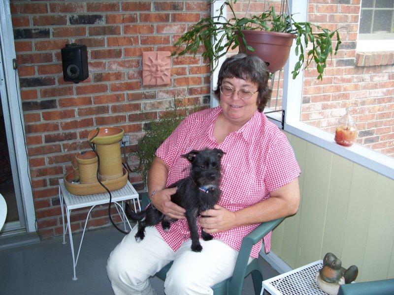 Yvonne-Va, and her dog Kiya