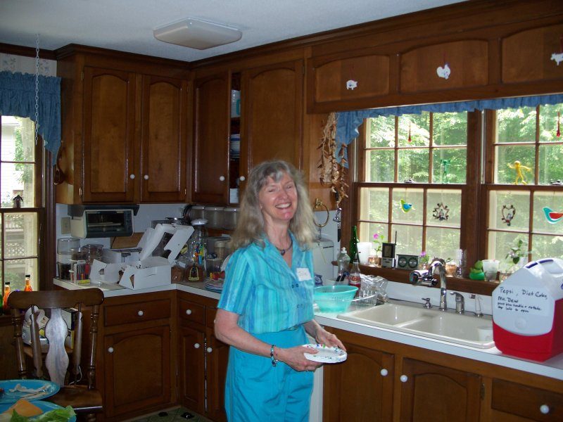 Julie in her kitchen