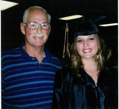 Herb with daughter Karen at HS graduation