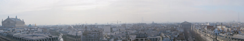 Paris Panorama on a cold overcast morning