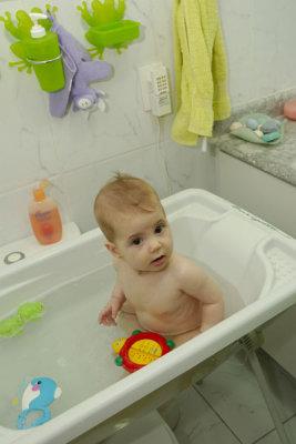 Sentada no Banho