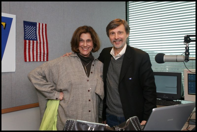 Lynn Cullen, another great liberal talk show host from WPTT, with Thom