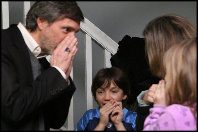 Teaching them the nose trick!
