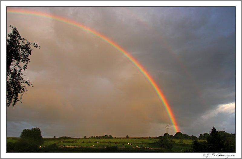 Rainbow at sunset (2)