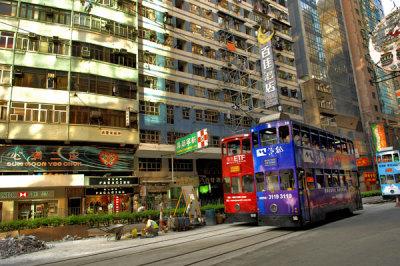 Tram race on Hennessy