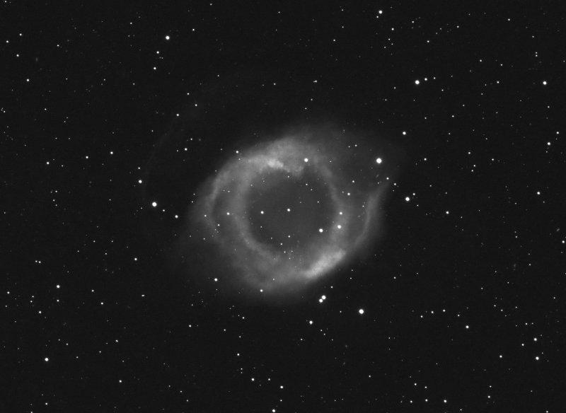 Helix Nebula Lum + Halpha (Close up crop)
