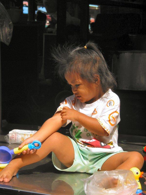 Little Angel at Nonthaburi Market