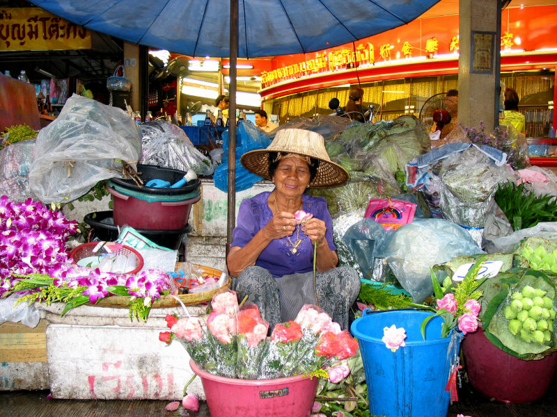 Flower Lady at Nathaburi Market