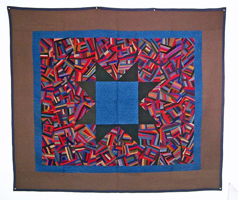 100: Crazy Star, Arthur, IL circa 1920, 63x 73 wool