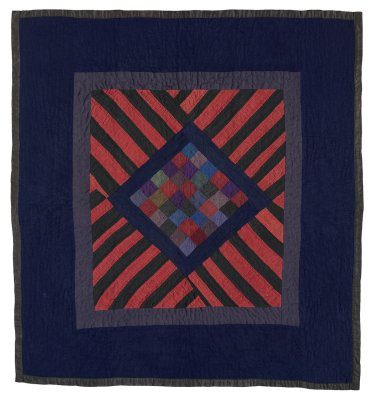 104: 36 patch w-stripes, Arthur, IL c. 1930 33x31