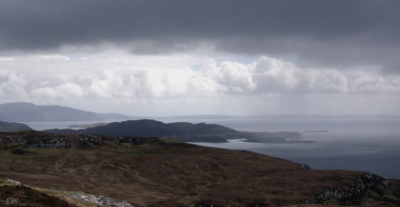Ulva and south Mull from uplands (have you got your compass, it is going to be needed soon?