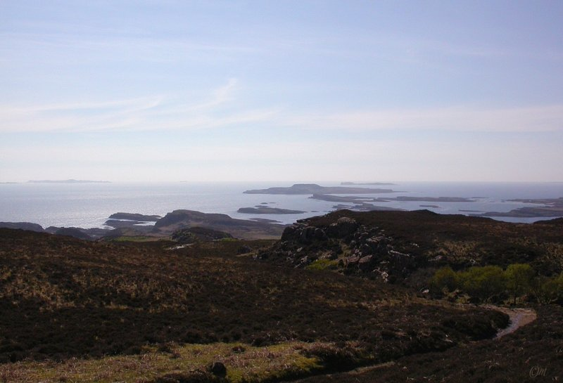 Cragaig; Colonsay then Staffa in the distance