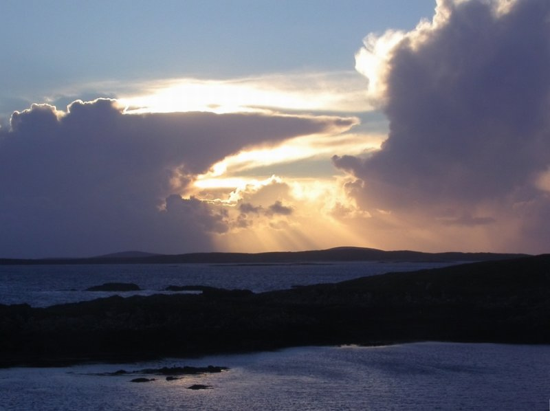 brewing up for storm force 10 over Berneray