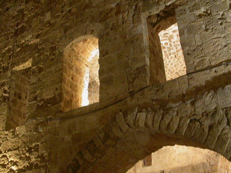 ancient walls inside the castle