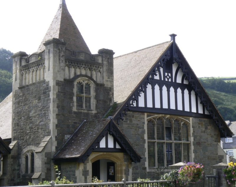 a chapel in Lynton: another example of the fine early 20th century architecture (a flourish when Warne moved to the town)