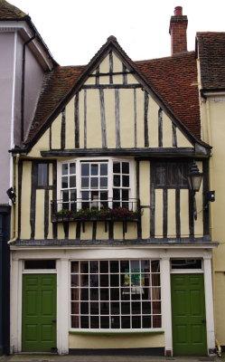 Bow window in older pub