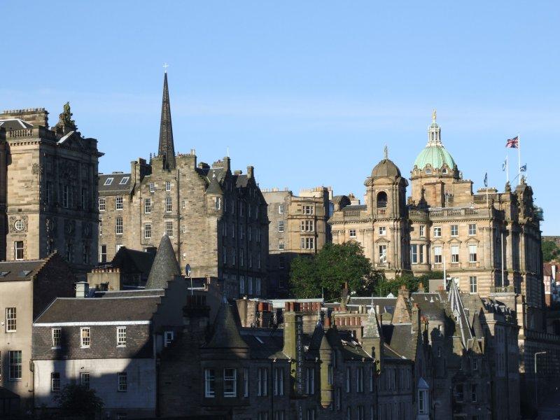 Early Morning Sun Royal Mile Edinburgh.JPG