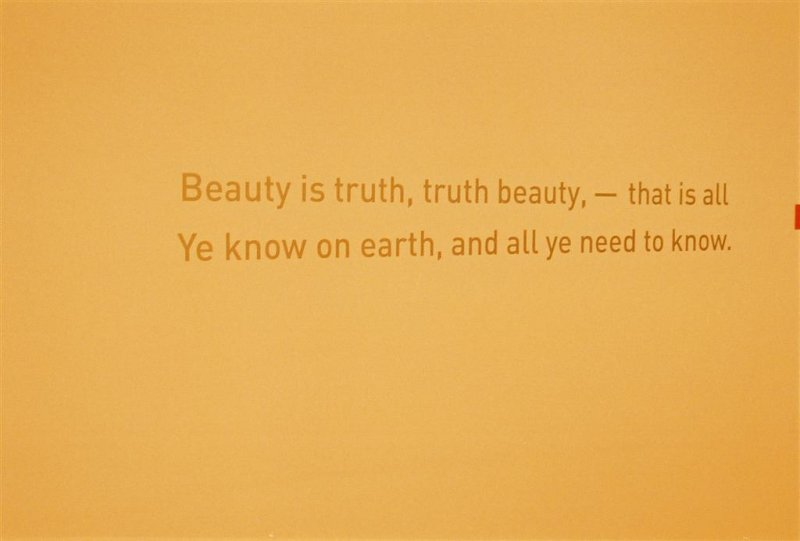'beauty is truth truth beauty' discuss Is beauty truth and truth beauty update cancel we discuss this truth is not beauty nor beauty truth, but beauty is beautiful because it touches what is.