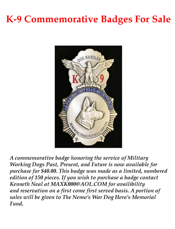 K-9 Commemorative Badge