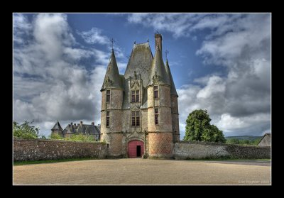Gate house at Chateau Carrouges
