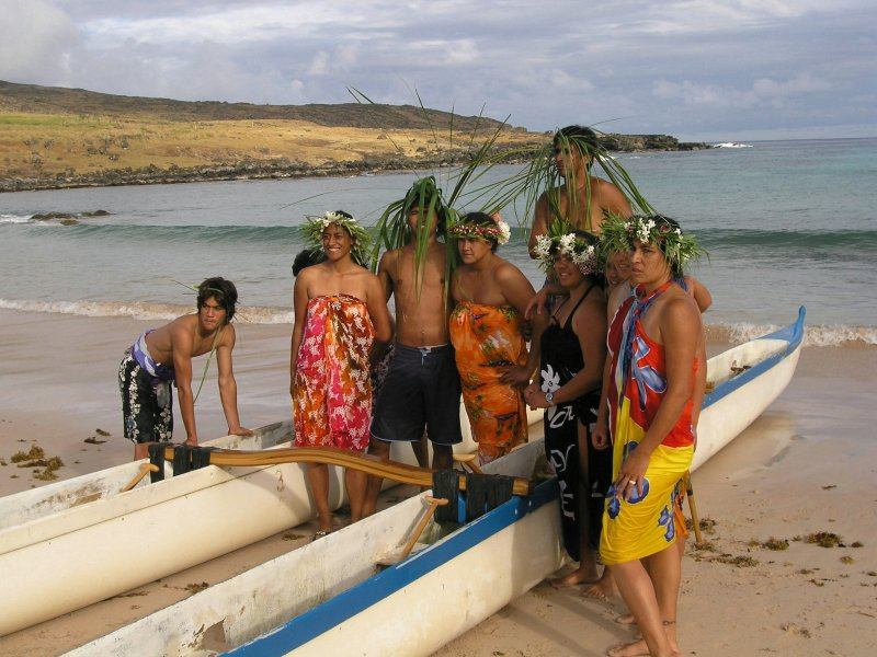 ...with help from some island residents