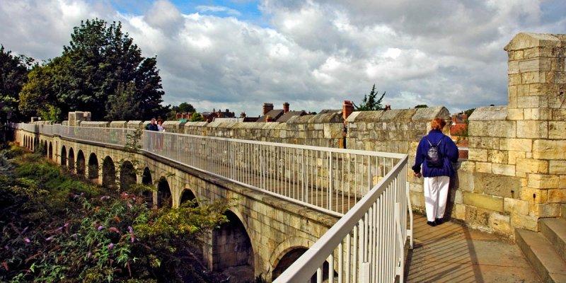 Walking the walls, York