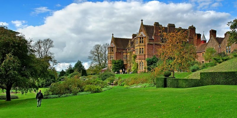 Knightshayes Court ~ lawn and house (1859)