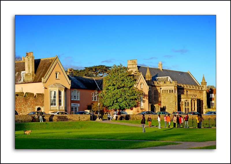 Students on the green, Wells