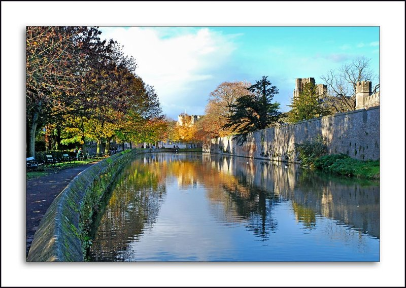 Moat and reflections, Wells