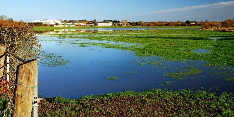 Farm buildings and floods