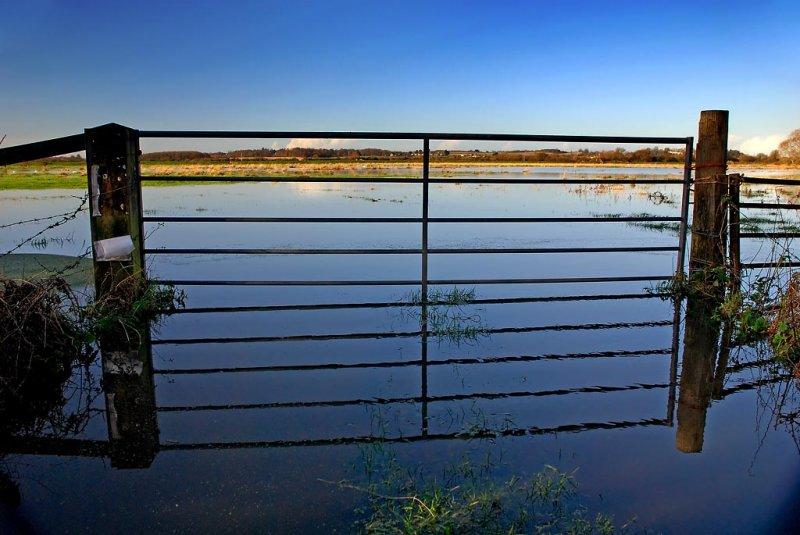 Flood gate! Near Langport, , Somerset