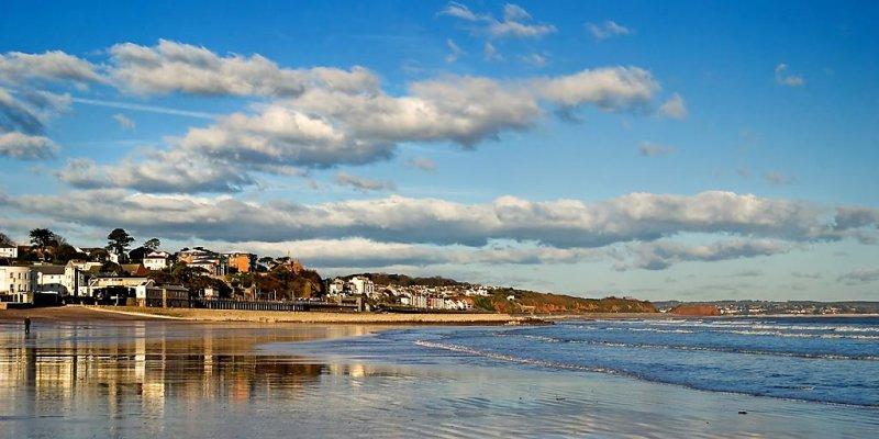 Beach reflections, Dawlish