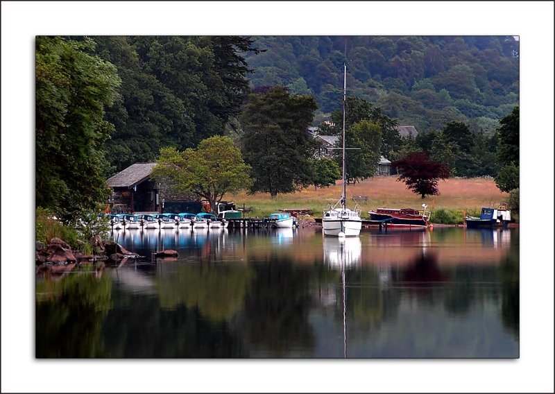 Line of boats, Ullswater